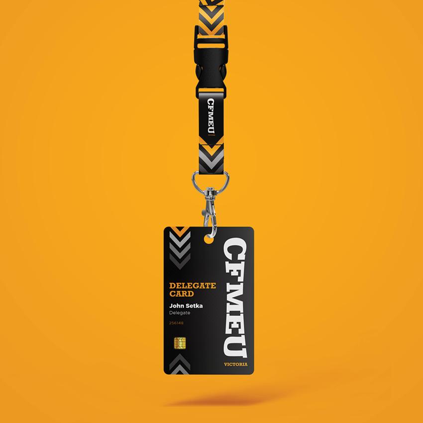 CFMEU Delegate Lanyard designed by NV ART